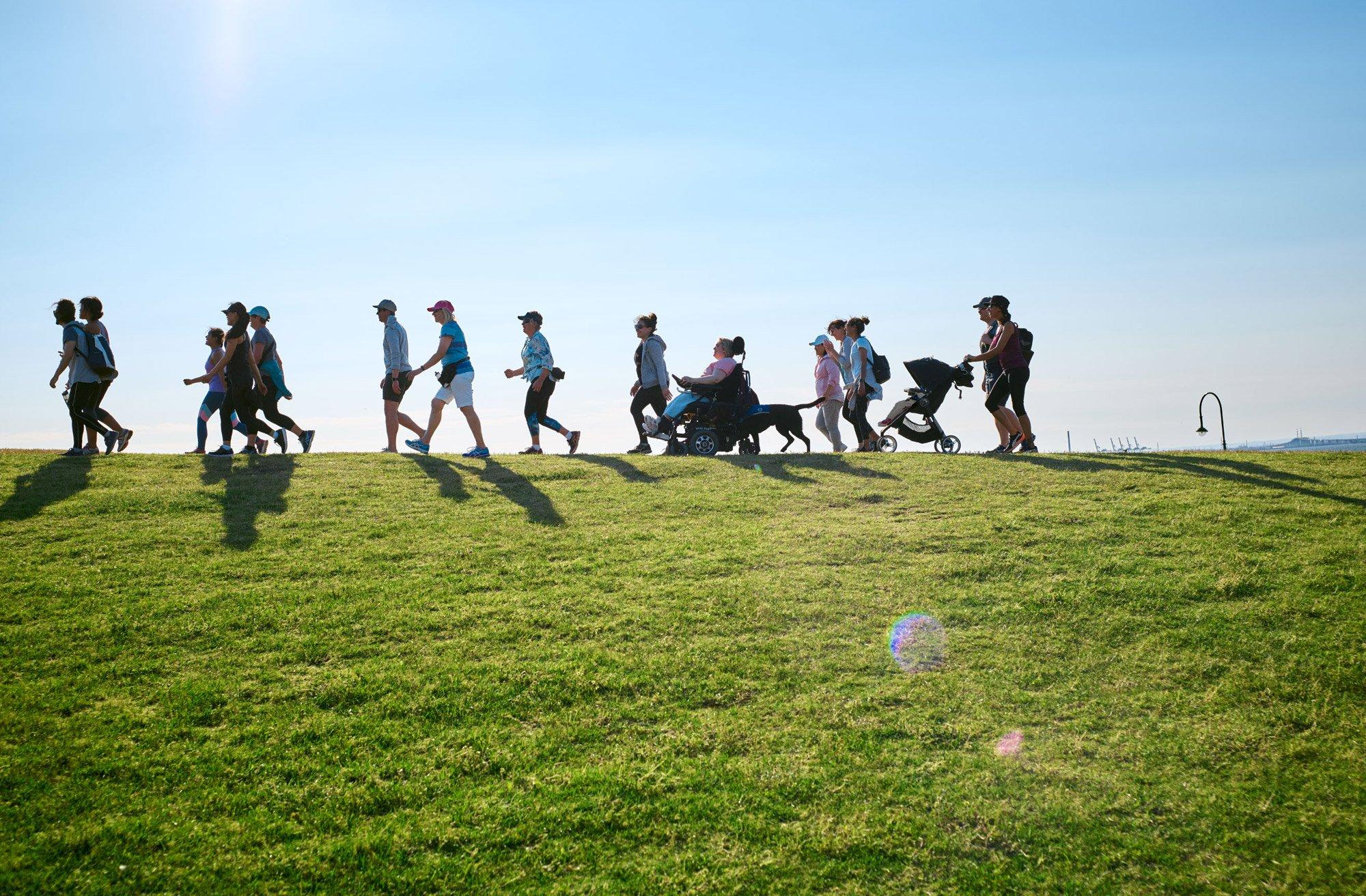 پیاده روی گروهی