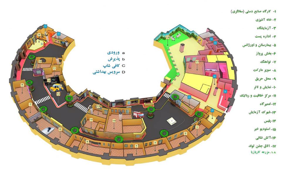 نقشه شهر مشاغل کاربازیا